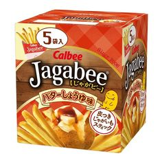 Calbee Jagabee Potato Sticks Butter Soy Sauce Flavor 80g Potato Chip Maker, Potato Chips, Potato Sticks, Asian Snacks, Crispy Potatoes, Japanese Snacks, Salted Butter, Stick Of Butter