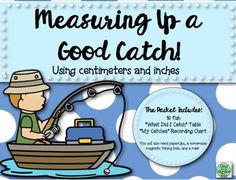 Fishing Measurement Math Center- centimeters inches