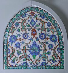 Turkish Iznik Polychrome Tile