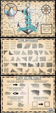 Creativemarket - Vintage Pen and Ink Brushes 131262