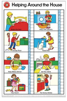 Get organized at home by the kids helping out with chores. Check out what daily & weekly tasks my kids are learning to do for themselves. Bonus printable, editable or blank family chore chart ideas. by age Chore Chart Pictures, Sequencing Pictures, Family Chore Charts, Chore Chart Kids, Worksheets For Kids, Kindergarten Worksheets, Printable Chore Chart, Kids Schedule, Multiplication For Kids