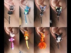 Polymer Clay Earrings Tutorial: Chococat from Sanrio - YouTube