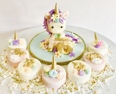 Unicorn Cake Topper Unicorn Chocolate Covered Oreos Sugared Cookies and Sweets Inc