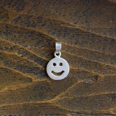 Happy Face Silver 925 Charm by OurStoneCollection on Etsy