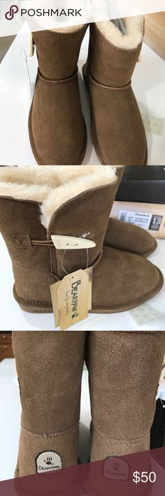 Girl winter boots Brand new with the tags super cool brown color with full fur inside size 13 (children) BearPaw Shoes Boots