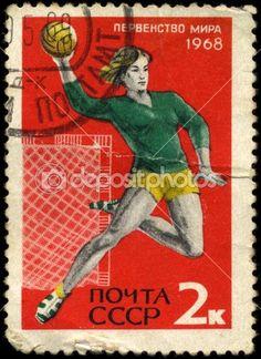 USSR - CIRCA 1968 Handball