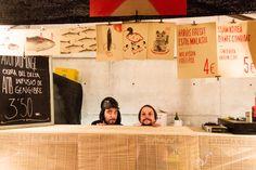 Realización de las fotografías en el evento Eat Street en Navidad 2014 en Barcelona. Foto realizada por Kinoki studio.