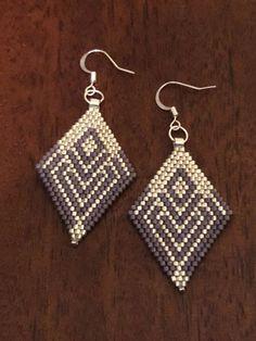 Royalbeier Beaded Earrings Oversized Handmade Seed Beaded Drop Earrings Long Beaded Navajo Indian Dangle Earrings for Women Ladies – Fine Jewelry & Collectibles Beaded Earrings Patterns, Bead Loom Patterns, Bead Earrings, Beading Patterns, Crochet Earrings, Seed Bead Jewelry, Bead Jewellery, Beaded Jewelry, Beaded Bracelets