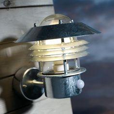 Nordlux Vejers Outdoor Wall Light with PIR Sensor - Galvanised Steel