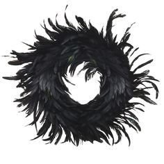 Black Feather Wreath | Other Gothic Christmas goodies. Pretty wreath. I could add some white, silver and red accents. =)