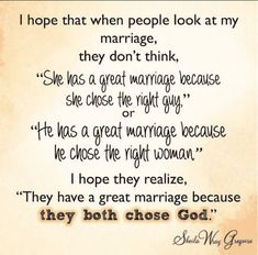 """Key to a Great Marriage: Both Choosing God 