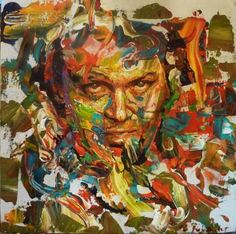 """""""Portrait of Jack Nicholson / Overlooked Jack"""" painting by artist Remi Jouandet 