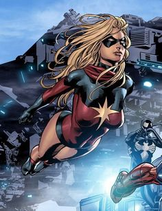 Marvel by Mike Deodato, Jr. Colors by Rain. Marvel by Mike Deodato, Jr. Colors by Rain. Super Marvel, Ms Marvel Captain Marvel, Miss Marvel, Captain Marvel Carol Danvers, Marvel Heroes, Marvel Avengers, Heros Comics, Marvel Comics Art, Comic Book Heroes
