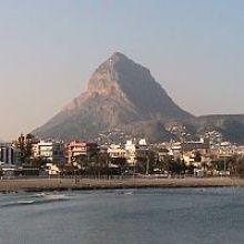 The montgo mountain in Javea Spain