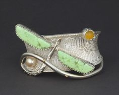 Silver Dragonfly Bracelet by Fritz Casuse (Navajo)
