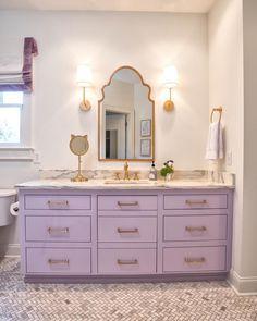 Bathroom Bathroom Ideas Girls Bathroom Bathroom Vanity Bathroom Vanity Ideas Marble Countertops Brass Trendy Bathroom Tiles Girl Bathrooms Girls Bathroom