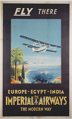 Imperial Airways Fly There Poster