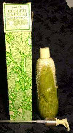 Full-Vintage-Avon-Golden-Harvest-Corn-Moisturized-Hand-Lotion-Bottle-Soap