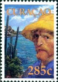 Stamp: The 125th Anniversary of the Death of Vincent van Gogh (Curaçao) (The 125th Anniversary of the Death of Vincent van Gogh) Mi:CW 344