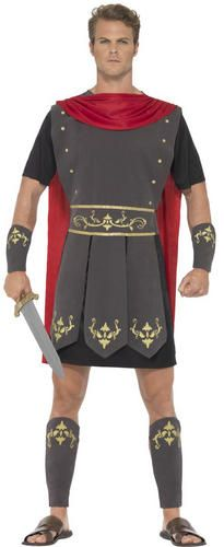 Roman Gladiator Mens Fancy Dress Ancient Greek Warrior Soldier Adult Costume New | eBay