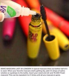 Make Mascara Last 3x Longer