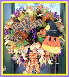 Halloween Wreath Candy Corn Wreath Happy Halloween Wreath