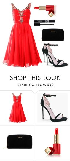 """""""Untitled #134"""" by electraz on Polyvore featuring Boohoo, Balmain, Christian Dior and Estée Lauder"""