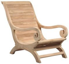 Teak Wood Lounge Chair - Traditional - Outdoor Lounge Chairs - by Design Mix Furniture Yard Furniture, Cool Furniture, Painted Furniture, Furniture Design, Outdoor Furniture, Pink Furniture, Inexpensive Furniture, Luxury Furniture, Patio Chairs