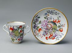 Chocolate beaker and saucer, Vienna - ca. 1735 - Hard-paste porcelain