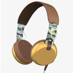 Skullcandy Grind headphones over ear Built-In Mic Remote Scout Camo/Gold new…