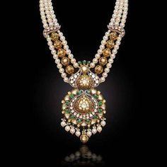 Gold Jewelry Design In India Gold Jewelry For Sale, 24k Gold Jewelry, Gold Jewellery Design, Beaded Jewelry, Bridal Jewellery Designs, Fancy Jewellery, Antique Jewellery, Temple Jewellery, Trendy Jewelry