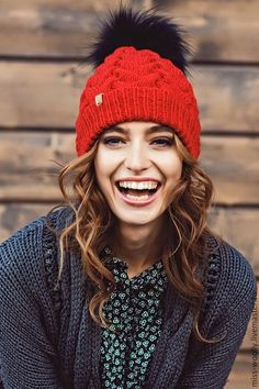 Купить Шапка Classik - ярко-красный, однотонный, шапка, шапка вязаная, шапка женская