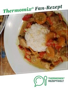 Hühnercurry mit Kokosmilch - Cooking & Co. with Thermomix - Thermomix Curry, Thai Recipes, Chicken Recipes, Good Food, Yummy Food, Tortellini, Food And Drink, Low Carb, Beef