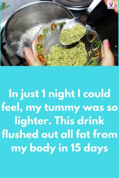 In just 1 night I could feel, my tummy was so lighter. This drink flushed out all fat from my body in Weight Loss Water, Weight Loss Drinks, Losing Belly Fat Diet, Lose Belly, Losing Weight, Get Thin, Alkaline Diet, Fennel Seeds, Chia Seeds