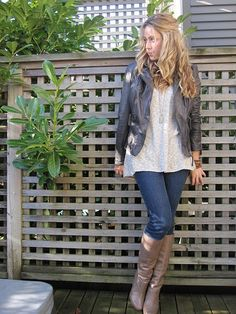 ooh grey boots -aldo (I just bought some sam edelman's in the color last season! cute outfit idea!)