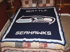 seahawks crochet blanket- I will never make this... but I just had to post it. This is amazing!!!