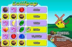 """Skrapa fram tre lika choklad bollar eller en """"Lollipop""""-symbol och du kan kamma hem en miljon kronor i vår nya skraplott Lollipop!"""
