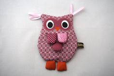 Knistertücher - Knistertuch Eule in rosa / lila - ein Designerstück von Bienenkind-de bei DaWanda
