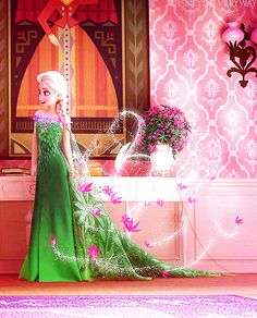 Elsa making her Frozen Fever dress! Disney Girls, Disney Love, Disney Magic, Disney Frozen, Frozen Wallpaper, Disney Wallpaper, Elsa Photos, Elsa Cosplay, Frozen Elsa And Anna