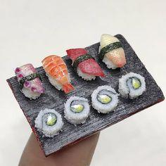 Handmade miniature dollhouse food miniature sushi fake food