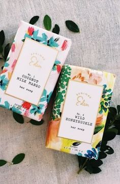 Beautiful, colourful packaging with spring flowers <3
