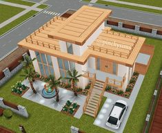 Casas the Sims Sims 4 Loft, Sims 3, Sims 4 Game, Casas The Sims Freeplay, Sims Freeplay Houses, Sims 4 Modern House, Sims 4 House Design, Sims 4 House Plans, Sims 4 House Building
