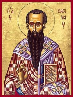 """""""Happy Feast Day Saints Basil the Great and Gregory Nazianzen! Anthony The Great, Happy Feast Day, Saint Feast Days, John Chrysostom, St Basil's, Byzantine Icons, Home Icon, Religious Icons, Orthodox Icons"""