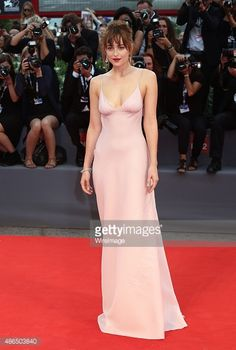 Dakota Johnson attends a premiere for 'Black Mass' during the 72nd Venice Film Festival on September 4, 2015 in Venice, Italy.