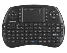 iPazzPort Backlit Keyboard and Bluetooth Mini Wireless Keyboard with Touchpad for Raspberry Pi and Android Smart Tv and PC KP-810-21SBL