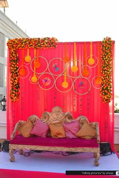 Wedding Decorations Indoor Ceremony Backdrop Beautiful Ideas For 2019 Desi Wedding Decor, Wedding Mandap, Wedding Stage Decorations, Backdrop Decorations, Flower Decorations, Backdrop Photobooth, Backdrop Ideas, Wedding Ceremony, Simple Stage Decorations