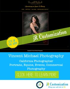 @smugmug site of the week - Vincent Michael photography - California Portrait, Equine, Event photography.  Click to learn more...