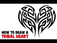 How to Draw a Tribal Heart Tattoo Design with Easy Step by Step Drawing Tutorial | How to Draw Dat