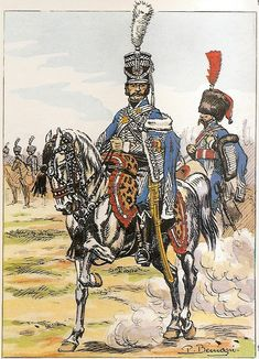 French; 1st Hussars, Le Colonel Merlin, 1812-13.