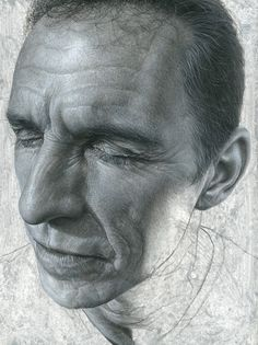 """Carl"" - Steve Caldwell {male head contemporary realism art man face portrait drawing #loveart} stevecaldwell.co.uk"